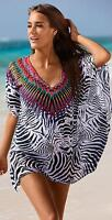 PilyQ African Rays Embroidered Tunic sz M / L