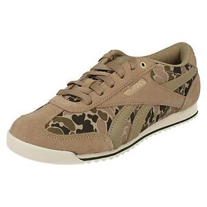Femmes Reebok Camouflage Lacet Canvas Baskets SPORTS Chaussures Royal CL Rayen