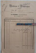 1884+Vente Tableau+Maître Escribe+Bordereau d'adjudication+facture Oeuvre d'Art