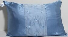 Seventeen Blue Satin Star Accent Pillow Embroidered Cut Out Stars VGC