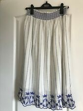 Marks & Spencer lined summer skirt with elasticated waist and embroidered hem
