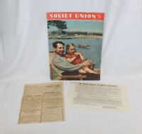Vintage Soviet Union Russian Magazine Stalin era Communist Propaganda 1955 RARE