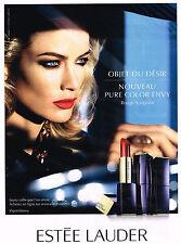 PUBLICITE ADVERTISING 045  2014  ESTEE LAUDER  cosmétiques rouge à lèvres