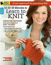 NEW 10-20-30 Minutes to Learn to Knit (6395) by Leisure Arts