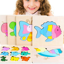 Puzzle Wooden Puzzles Hand Grab Boards Educational Toys Montessori Animal Shape