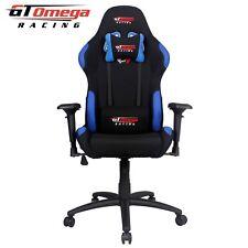 GT Omega PRO RACING GIOCO Sedia da ufficio in tessuto nero con Blue ESPORT SEDILI AK