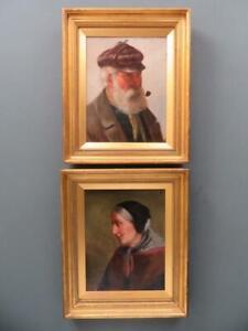 David W. Haddon - 19th Century A PAIR of original Cornish PORTRAIT Oil Paintings
