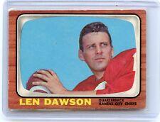 1966 TOPPS #67 LEN DAWSON FOOTBALL CARD, KANSAS CITY CHIEFS, HOF