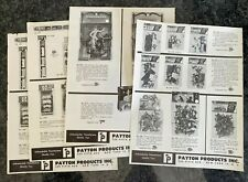 Vintage 1950s Payton Products NY Plastic Toy Soldiers Play Set Sales Pages x 4