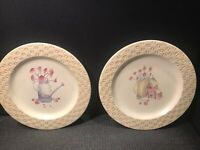 2 GENUINE SONOMA HOMEGOODS ''IN THE GARDEN''   DINNER PLATES   11 1/4''