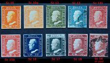 Italian States, Sicily 1859, Ferdinand II, SC 10-18, unused, Replica