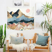 Mountain Sun Landscape Printing Tapestry Home Wall Hanging Background Decoration