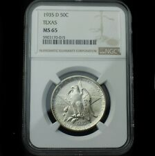 1935-D Texas Commemorative Silver Half Dollar~MS65 NGC~Combo Shipping~!