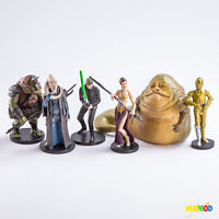 Disney Store Star Wars RETURN OF THE JEDI 6 Figure PlaySet Cake Topper Jabba