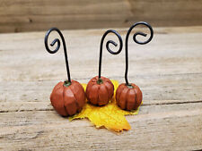 Pumpkin Miniature BLossom Bucket - Discontinued by MFG, fairy garden, railroad