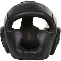 Venum Challenger 2.0 Skintex Leather MMA Training Headgear - Black