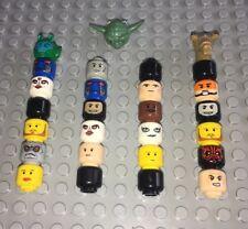 Lego / 27 Star Wars Figure Heads / Body Parts / Imperials & Rebels & Aliens