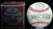 1930s Harwood Official National League Baseball w/ Box vtg Detroit Tool Co rare