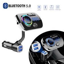 Bluetooth 5.0 FM Transmitter Handsfree Car Kit MP3 Player QC 3.0 USB Charger NEW