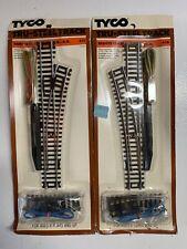 "Vintage TYCO Remote Control Switch R.H. #411 & L.H. #410 Tru-Steel Track"" NOS"