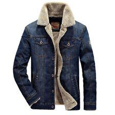 Jeans Jacke Gefüttert Herrenjacke Winterjacke Herren deni Blau Parka Jean jacket