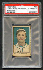 Christy Mathewson 1920 W522 #39 PSA Authentic HOF Hand Cut NY Giants (814-2)