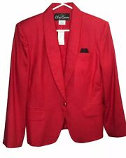 NWT Oleg Cassini Red Blazer Polyester/Rayon MSRP $129.00 Same day shipping by 2p