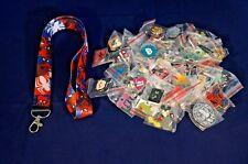 Disney World Pin Trading Lot Lanyard Starter Spiderman Red White & Blue 25 Pins