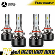 9005+9006 Combo LED Headlights High&Low Beam Headlamp 6000K White 120W 24000LM