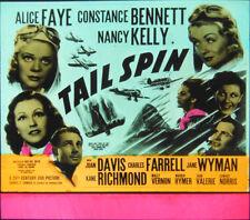 """Orig. Glass Slide - """"Tail Spin"""" - ALICE FAYE - CONSTANCE BENNETT - 1939"""