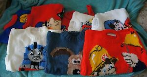 INTERSIA HANDKNITTED CHARACTER JUMPERS GIRL  BOY MUST SEE