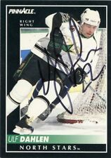 ULF DAHLEN NORTH STARS AUTOGRAPH AUTO 92-93 PINNACLE #68 *43919