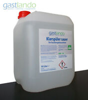 Klarspülmittel Klarspüler 10L Kanister für Gläserspülmaschinen Gastlando