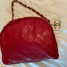 Chanel rare Vintage Red Case Chain