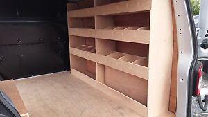 VW T5 Transporter SWB Drivers Side Van Racking Plywood Shelving Storage tools