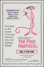 Vintage Pink Panther Movie Poster A3 Print