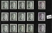 Large denomination Adolph Hitler stamps / 1941-1944 Third Reich / WWII Germany