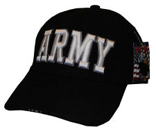 HA-TEXT ARMY BLACK-CAP BASEBALL MILITARY CAP