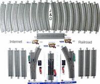 HO Scale Model Railroad Train Layout Bachmann Silver EZ Super Track Package Deal