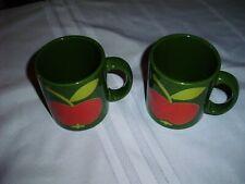 2 Waechtersbach West Germany Vintage Coffee Mug Red Apple.