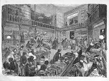 PARIS BD DES ITALIENS MAGASINS DE LA LIBRAIRIE NOUVELLE GRAVURE ENGRAVING 1857