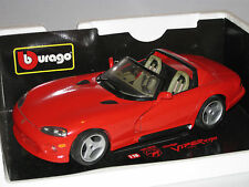 BURAGO 3025  1/18  DODGE VIPER RT10 1992 RED ---  EXCELLENT  BOXED CONDITION