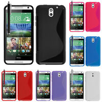 Housses etui coque pochette TPU silicone gel S-Line Stylet pour HTC Desire 610