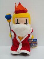 "Bomberman Wars Yellow King SEGA 1998 Plush 10"" TAG Stuffed Toy Doll Japan"