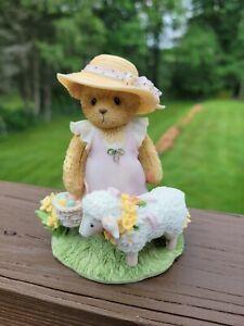 2002 Cherished Teddies APRIL Spring Easter Sheep Lamb 107062
