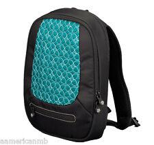 Sherpani Vega Jade Tablet IPad Backpack Case Black Aqua Blue Padded Organizer