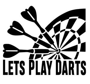 Lets Play Darts, Car, Wall, Door, Art, Decal Sticker.