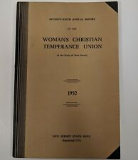1952 Womans Christian Temperance Union 79th Annual Report New Jersey