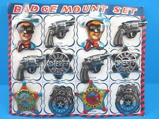 1950's VINTAGE LONE RANGER SET of 12 BADGES PINBACK BUTTONS (MINT NEW OLD STOCK)