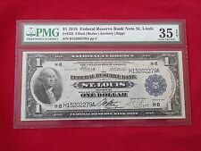 FR-732  1918 Series $1 St Louis Federal Reserve Bank Note *PMG 35 EPQ Choice VF*